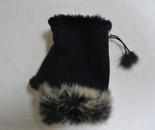 Fingerless Gloves Mittens Hand Wrist Warmer Faux Rabbit Fur Winter NWT
