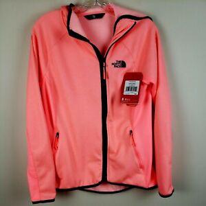 The North Face sweatshirt Jacket womens M Arcata Full Zip Lightweight coral