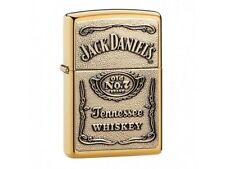 Zippo Gold Jack Daniels  - Petrol Windproof Lighter + Gift Box 254BJD428