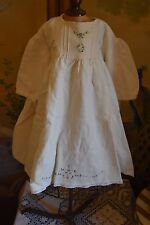 ROBE ANCIENNE 2 PCS POUPEE ANCIENNE ANTIQUE DOLL DRESS POUPON ANCIEN BRU JUMEAU