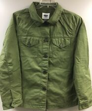 Old Navy Green Jacket Embellish Back Cotton Thin weight L 14 16