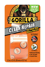 "Gorilla 6015002 Crystal Duct Tape, 1.5"" x 5 yd (Pack of 1) Clear"