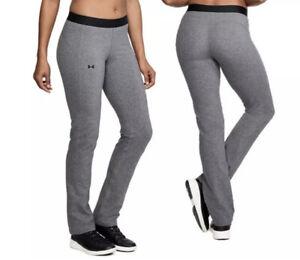 Women's Under Armour Straight Leg Pants Grey 1314510-019 Brand NEW