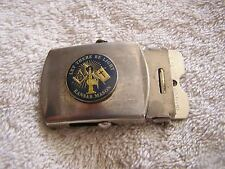 "Vintage Belt Buckle ""Let There Be Light Kansas Mason"" Harry Sugarcane Inc. Brass"