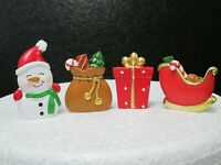 Christmas Cake Topper Decorations - Sack, Snowman, Present or Sleigh