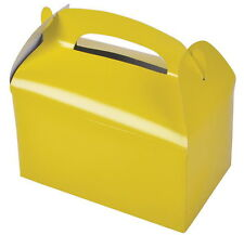 24 YELLOW PARTY TREAT BOXES FAVORS GOODY BAGS BAZAAR PRIZE GIFT BASKET CARNIVAL