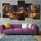 5Pcs/set Vintage Canvas Casks Wine Wall Pictures Paintings Decals Home Decor