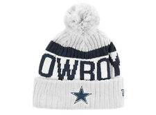 Dallas Cowboys White New Era Cold Weather Reverse On Field Sideline Beanie New