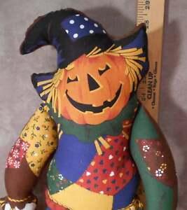 Happy Pumpkin Scarecrow Door Hanger Halloween Plush