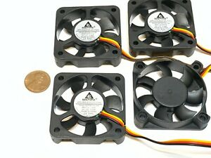 4 Pieces GDstime 12V 5010 3Pin Computer fan 50MM 5CM pc cooling Brushless C41