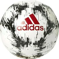 adidas Glider 2 Soccer Ball (White/Red/Black, Size 4)