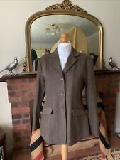 Ladies Sherwood Forest Brown Herringbone Tweed Show/Hacking Jacket Size 18/42