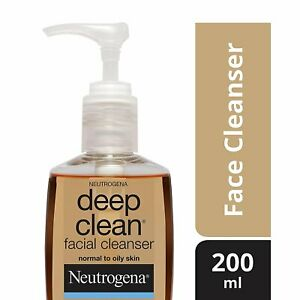 Neutrogena Deep Clean Facial Cleanser, 200ml  For all skin types