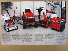 1986 Honda Lawn Mower Tiller Tractor Outboard Snow Generator vintage print Ad