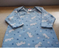 Baby Nightgown Unisex Blue Size 3 Months 100% Polyester