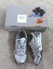 NEW ASICS GEL DIRTDIVA2 running TRAIL cross country spike shoes SILVER mint 6.5