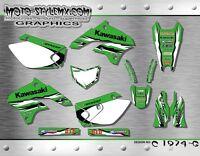 Kawasaki KLX 450 2008 up to 2016 graphics decals kit Moto StyleMX