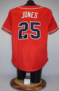 Andruw Jones Signed Jersey Atlanta Braves Red Baseball Jersey JSA AF34581