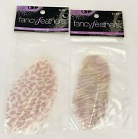 Hobby Lobby Fancy Printed Feathers 4 pc