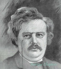 G K Chesterton 1912 Drawing By Harold H Smith Print Article A200