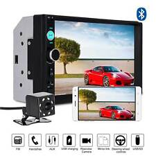 """7"""" Touch Screen Car Stereo Radio MP5 MP3 Player Bluetooth 2DIN Rear View Camera"""
