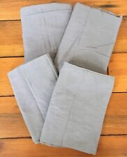 Set of 4 Mainstays Dark Charcoal Gray Cotton Blend King Sized Pillowcases