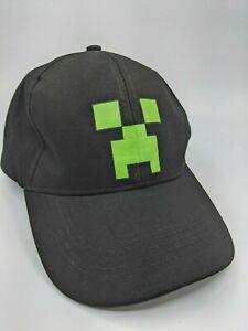 Gamer Creeper Hat Minecraft Style Black Tennis Snapback Hat Cap - NEW