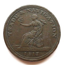 More details for nova scotia penny token 1813, canada trade & navigation, 'pure copper / paper'