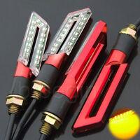 4 x 16 LED Rouge Universal  signal indicateur Clignotant Feux Jaune pour Moto