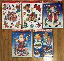 5 Sheets CHRISTMAS Window Clings . 1990's