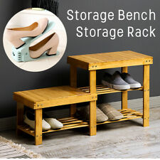 Wood Benches Stool Shoe Storage Porch with Multi-Layer Combination Shoes Rack
