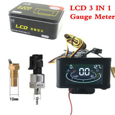 Advanced MCU Real-time Monitor Water Temp Battery Voltage Oil Pressure LCD Gauge