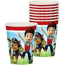 PAW PATROL 9oz PAPER CUPS (8) ~ Birthday Party Supplies Drinking Beverage Nick