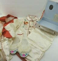 4 Pc Vintage Chinese Embroidered Satin Pajama Set Robe Pants Slippers Child 2T