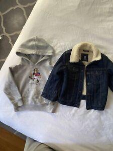 Toddler boys 3T, Polo ralph lauren hoodie and Gap denim sherpa jacket