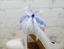 Strumpfband Eisblau Blau Hochzeit Braut Strumpfbänder - MIT NAMEN & Datum S-XXL