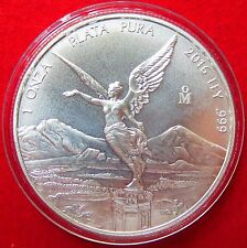 MEXICO 2016 LIBERTAD SILVER COIN SERIES,  Uncirculated 1 Oz. 999% Purity Lot #3