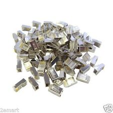 CAT6 Shielded Crimp Connector for Solid and Stranded Cable (50 Pcs Per Bag)