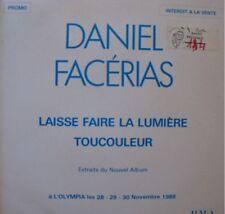 DANIEL FACÉRIAS laisse faire la lumiere SP PROMO RARE++