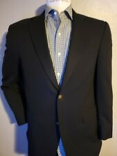 Hart Schaffner Marx Men's Navy Blue Plaid Wool Blazer Suit Jacket 38R $798