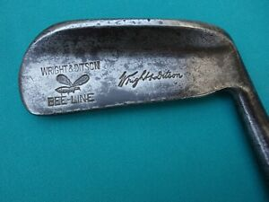 Vintage Wright & Ditson BEE-LINE B-19 Putter Forged W/ Hickory Shaft