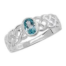 Ringe mit Edelsteinen ovale echten Topas für den Jahrestag