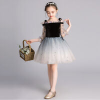 Kid Flower Girl Tulle Tutu Dress Pageant Princess Wedding Bridesmaid Party Dress