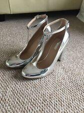 Scarpe con tacco Dorothy Perkins argento con cinturino alla caviglia Eu 41 Uk 7