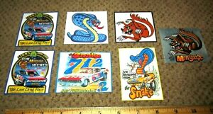 Snake & Mongoose Prudhomme & McEwen 7 Stickers Hot Wheels Funny Cars 1970 Cuda
