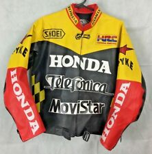 Red and Yellow HONDA Movistar Telefonica HRD Motorcycle Jacket (Size in Listing)