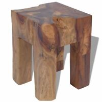 New Solid Teak Wood Stool Chair Side Accent Table Plant Flower Stand Resin