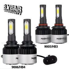 Nighteye 9006 + 9005 4PCS LED Total 144W 18000LM Combo Headlight Kit 6500K White