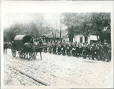 1914 World War I Serb Troops Leave Belgrade Original News Service Photo