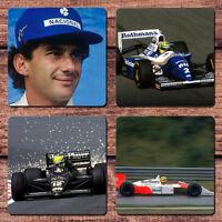 Ayrton Senna Coaster Set NEW Formula One F1 GP Grand Prix Racing Car